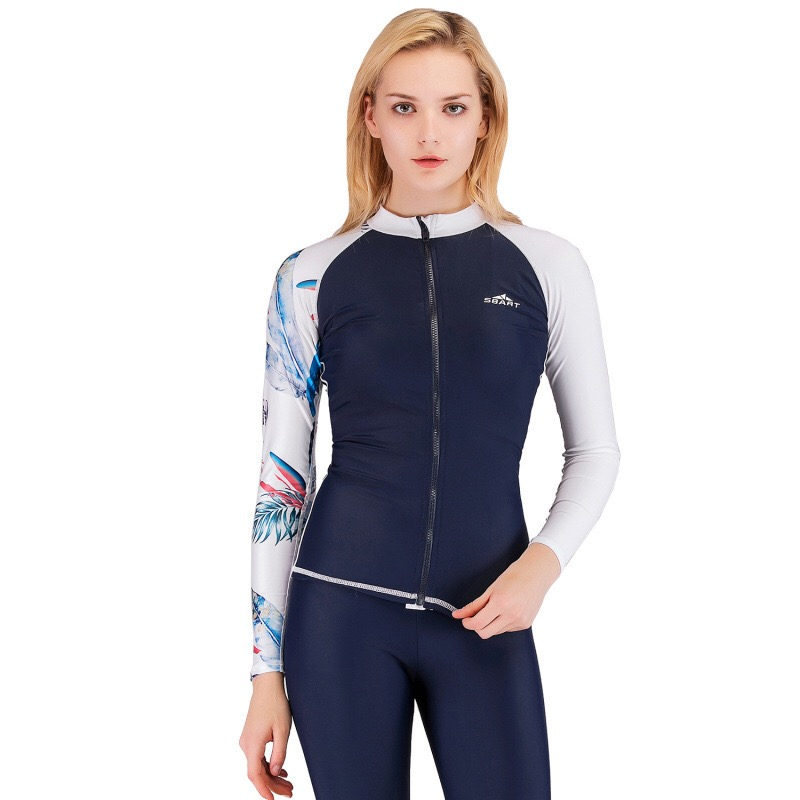 Sbart's New Diving USit For Women Split Body Floating Swimwear Comfortable Speed Dry Long Sleeve Sun Protection Surf Suit