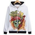 Cool Brand Clothing Harajuku Volbeat Punk Rock Hoodies Dark Metal Sweatshirt zipper Skull sudadera tracksuit skull Western style