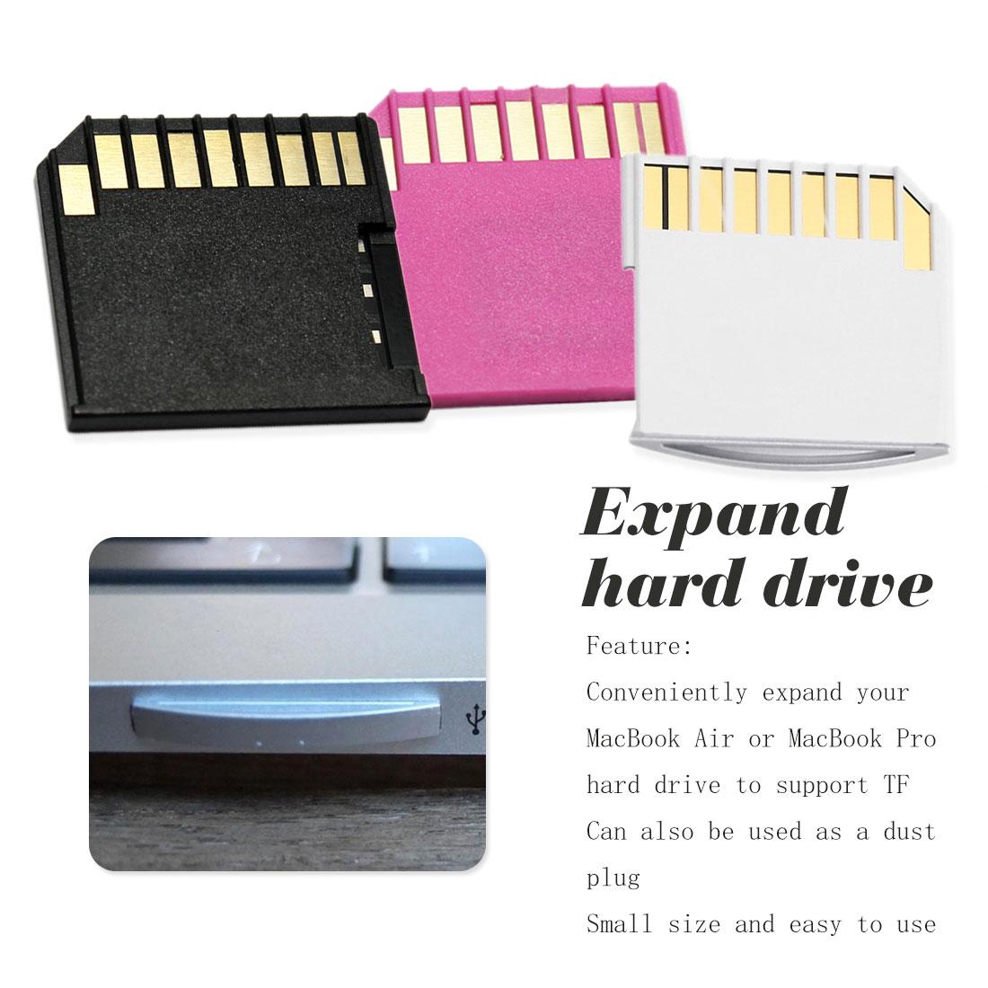 White Micro SD Adapter For MacBook Air Pro Mini SD Card Set  Air Pro TF To SD MacBook Flash Drive  Digita