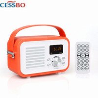 ES F693 3 in 1 with Bluetooth Speaker/FM Radio/MP3 Player LCD Screen Rechargeable Battery Remote Control Portable Desktop Player