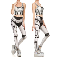 2017 New Fashion Star Wars Imperial Stormtroope Vest With Leggings Set Sexy Women Cosplay Costumes Summer