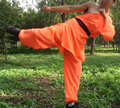 unisex Kids&adult 3colors Orang/white/yellow kung fu/Martial arts clothing sets shaolin monk suits uniform high quality