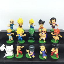 15pcs/Set Japanese Anime Dragon Ball Z Action Figures Great Saiyaman Son Goku Cute Version Anime Figure Kids Toys Doll