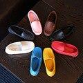 Children Shoes Девушки Парни Кожаные Shoes 2017 Весна Лето Квартиры Удобные Мягкие Подошва Мокасины Мальчик Бездельники Случайные Дети Shoes