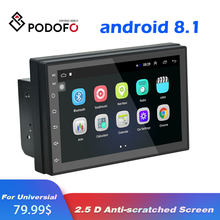 Podofo 2din android Auto GPS Radio Universele Audio Multimedia Voor Volkswagen Nissan Toyota Hyundai auto Stereo Video DVD Speler(China)