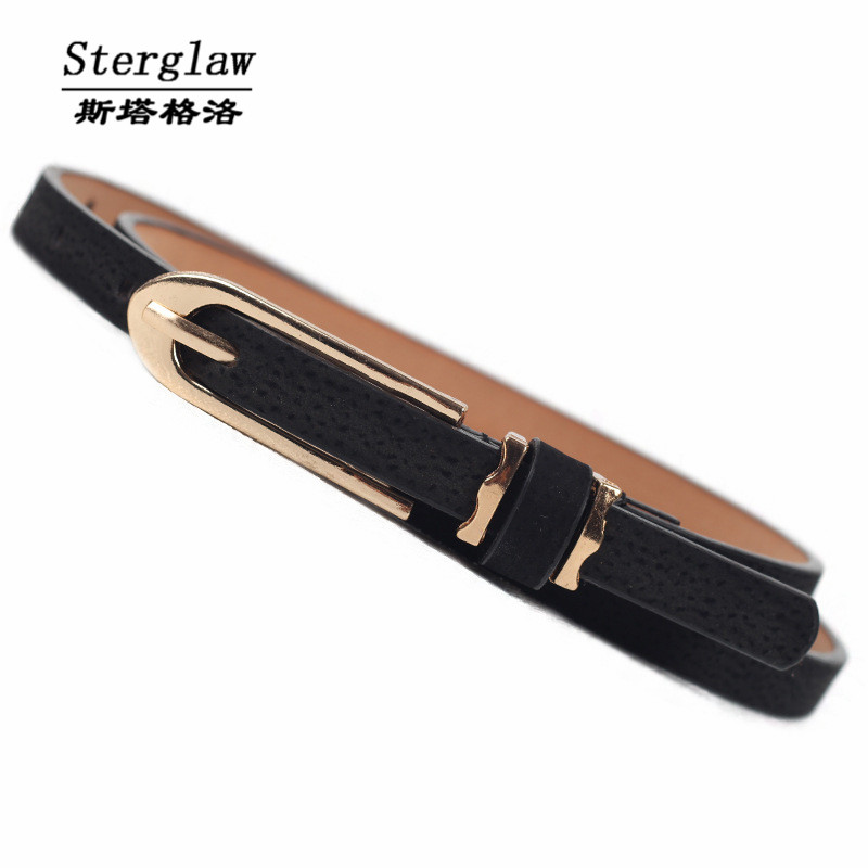 Hot selling thin   belt   pin buckl jeans casual   belt   women 2019 fashion designer female   belt   dress cinturones mujer sterglaw J202