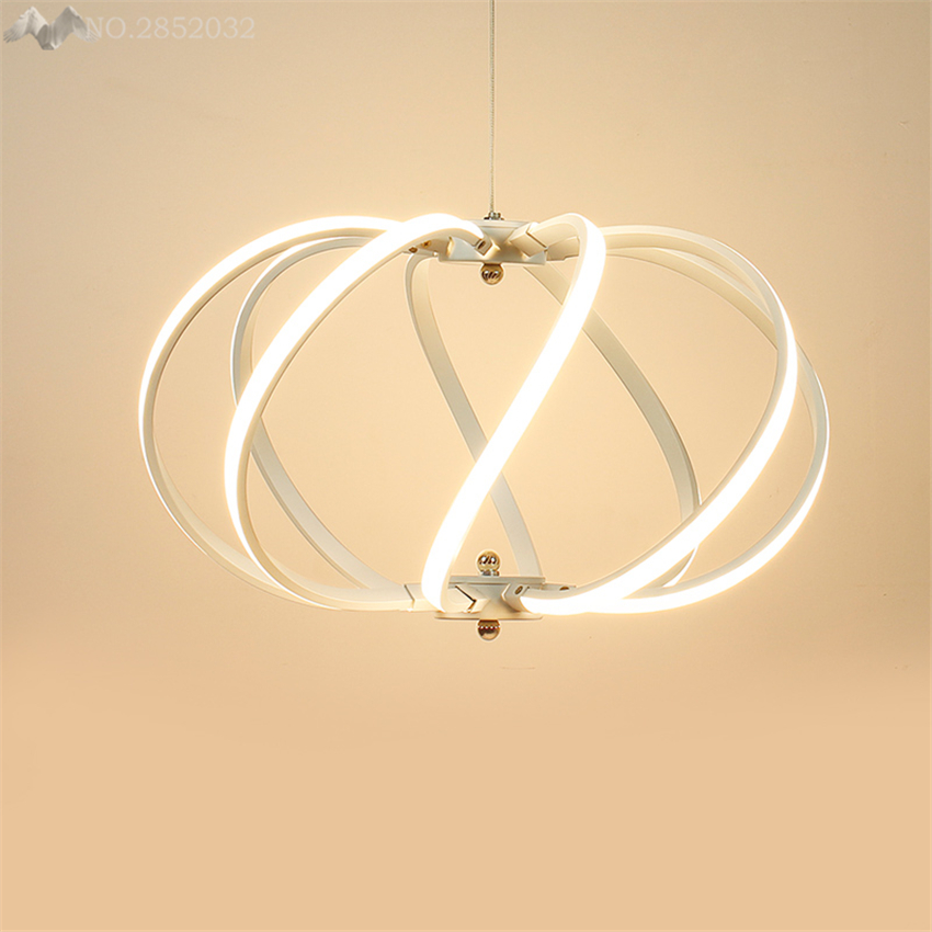 LFH Post Modern New Creative Lamp Aluminum LED Pendant Lights Living Room Bedroom Dining