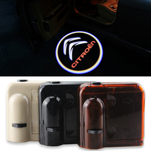 2pcs Wireless Projector Car Logo Shadow Door Welcome Step LED Light For Citroen Serials
