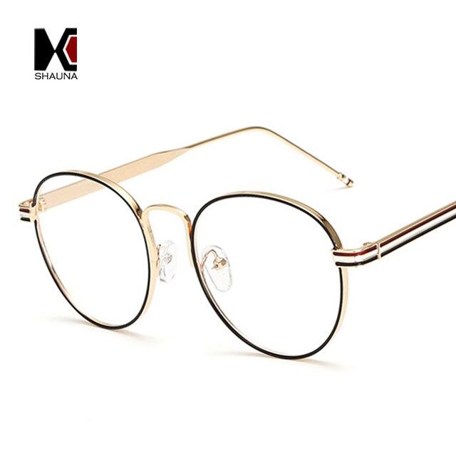 SHAUNA Fashion Women Round Glasses Frame Brand Designer Vintage Men ...