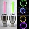4Pcs LED Flash Valve Dust Cap Tyre CyclingColour LED Neon Bulb Car Bicycle Motorcycle Bike sensor Wheel Lamps Guarant