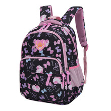 Girls Princess Print Schoolbags for Orthopedic Primary Escolar Mochila Bookbags Kids Travel Waterproof Backpack Infantil Zip letter print zip pocket backpack