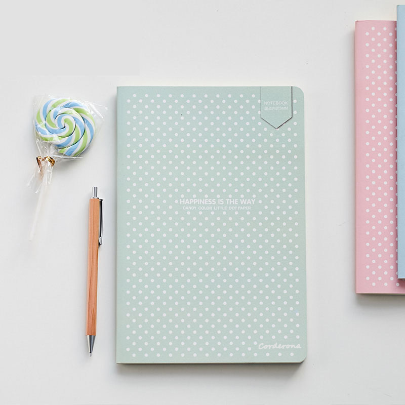 A5 Dotted Bullet Notebook Journal Candy Color Diary Soft Cover Travel Planner Sketchbook Stationery