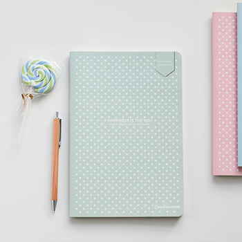 Dot Grid Notebook Stationery Lattice Creative Journaling Book Simple Soft Cover Dotted Bullet Journal Bujo