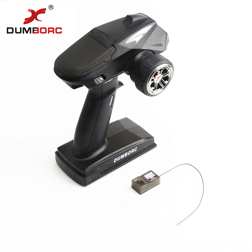 DumboRC X4 2.4G 4CH Transmitter with X6F Receiver for JJRC Q65 MN-90 Rc Vehicle Car Boat Tank Model Parts image