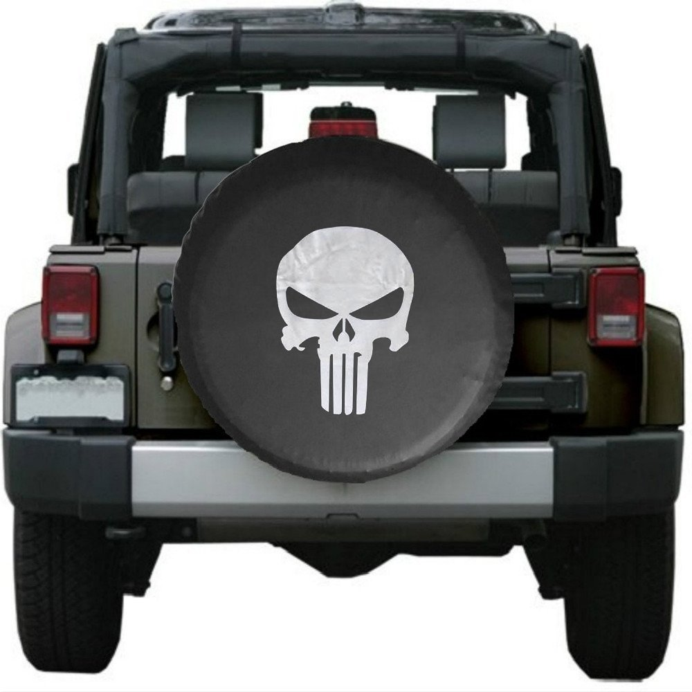Spare Tire Cover,PVC Leather Waterproof Dust Proof Skulls RV Wheel Covers  For Jeep Liberty Wrangler SUV Camper Travel Trailer  In Car Covers From ...