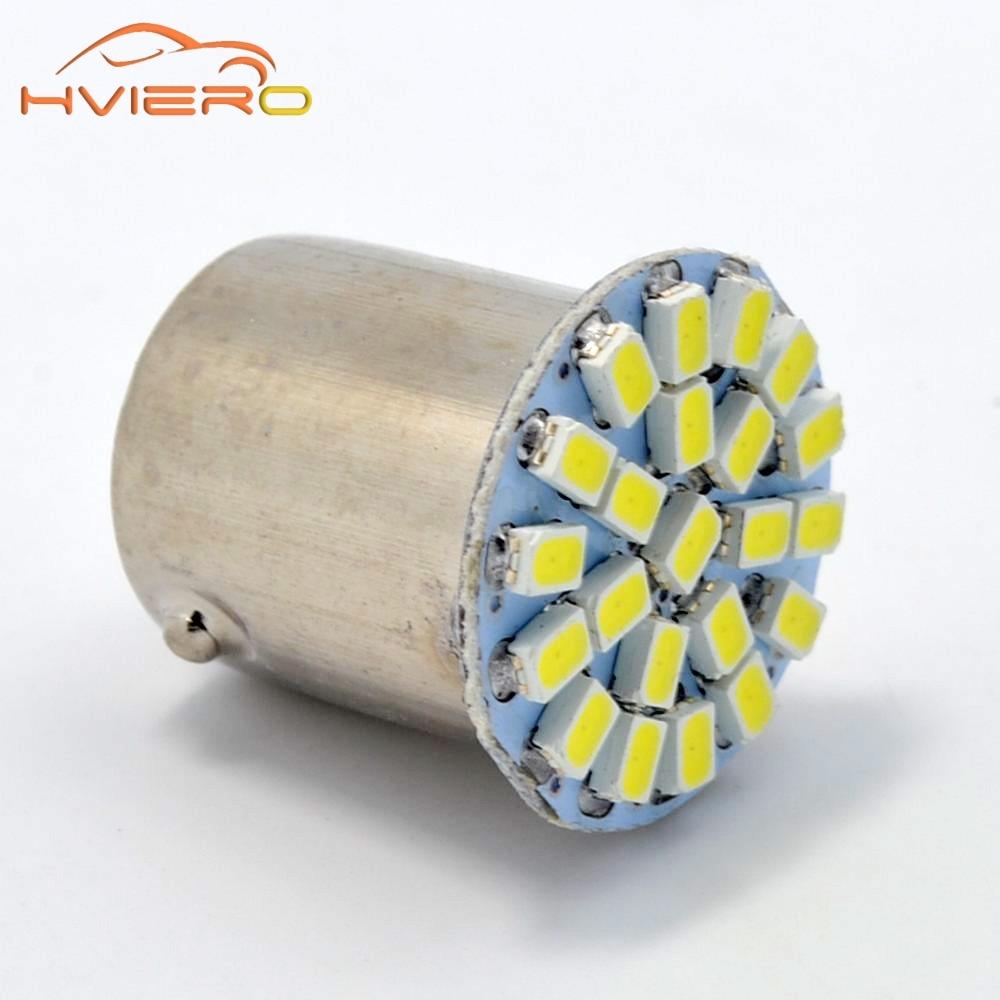 Фото 10Pcs 1156 BA15S 1157 BA15D T25 1206 3020 22 SMD White LED Brake Turn side marker Light Auto mobile Wedge Lamp Tail Bulb DC 12V