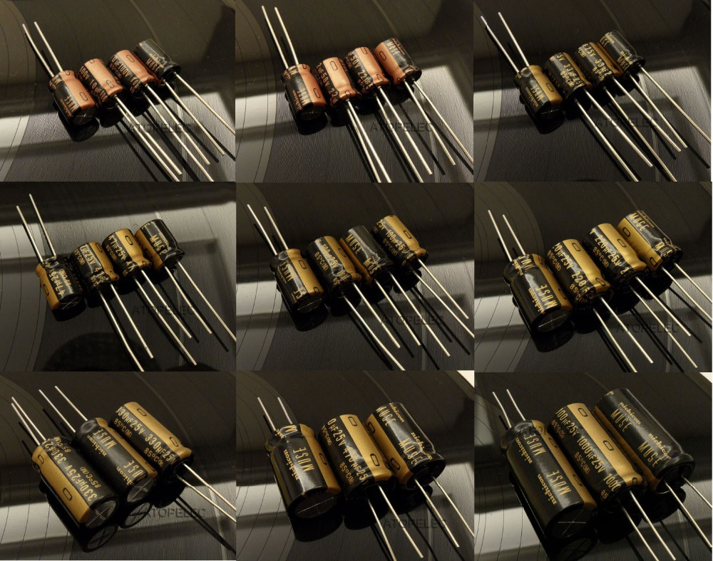 Lots of 1 to 20 Nichicon UFW FW 100uF 100V Electrolytic Capacitors