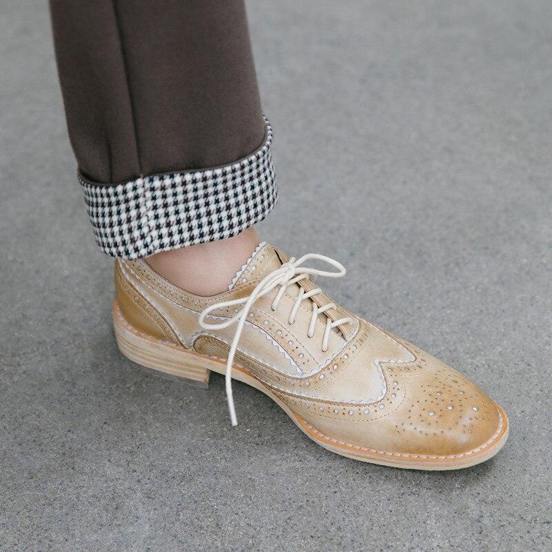 superior pigskin senhora oxford sapatos mulher artesanal estilo britânico