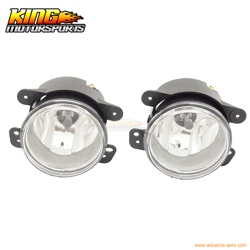 For 11 12 13 14 Dodge Charger Chrome Housing Clear Lens Fog Lights Lamps Pair Lh Rh USA Domestic Free Shipping Hot Selling