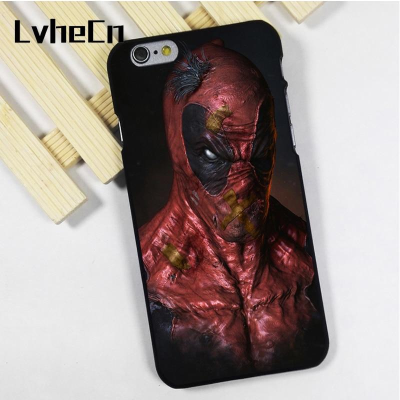 LvheCn phone case cover fit for iPhone 4 4s 5 5s 5c SE 6 6s 7 8 plus X ipod touch 4 5 6 Deadpool Spectacular Art Marvel
