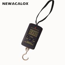 40kg x 10g Mini Digital Scale for Fishing Luggage Travel Weighting Steelyard Hanging Electronic Hook Scale