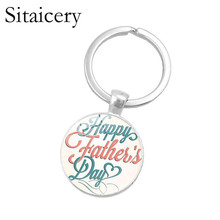 Sitaicery New Fashion Je Taime Keychain Daddy Key Rings Gift For Dad Fathers Day, Father Chain Accessories Men Jewelry