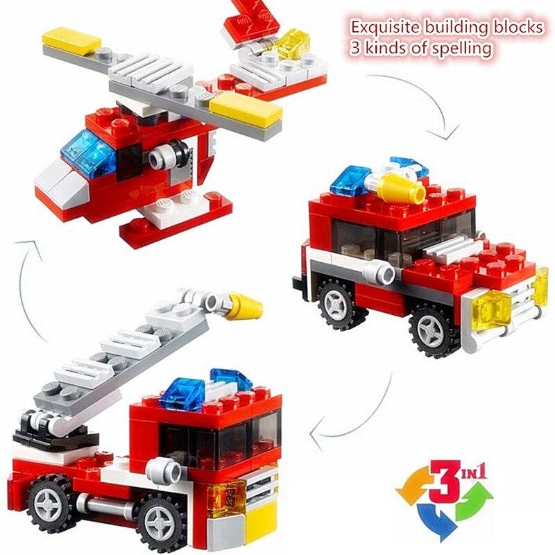 DECOOL Mini 3 in 1 Speeder Bouwstenen Sets Bricks Kinderen Model - Bouw en constructie
