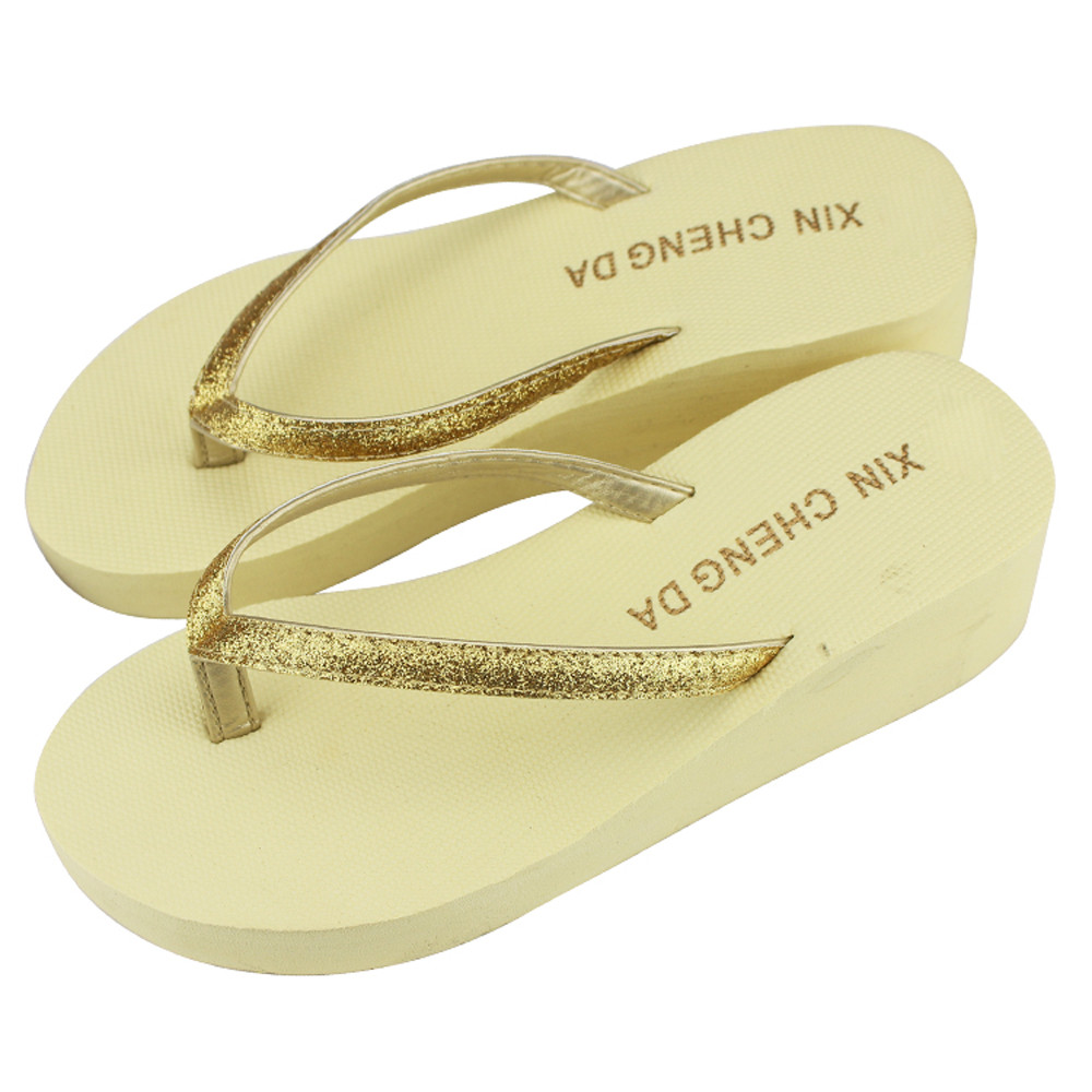 High Heels Women Casual Fashion Flip Flops Summer Sandals Platform Wedges Slippers Outdoor Fashion Beach Shoes Woman brand flip flops women platform sandals summer shoes woman beach flip flops for women s fashion casual ladies wedges shoes ws9