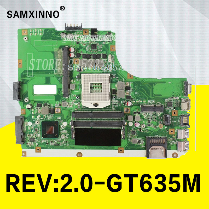 K55VM REV 2.2 /2.0 motherboard For Asus A55V K55VJ HM76 GT635M 2GB USB3.0 laptop mainboard fully tested & working perfect S-6 цена
