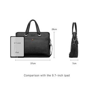 Image 5 - VIKUNJA POLO Einfache Design Freizeit männer Leder Laptop Handtasche Business Casual Mann Aktentasche Computer Schulter Taschen
