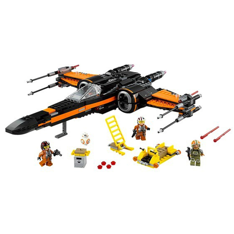 748pcs 05004 Star 79209 Wars First Order Poe's X-wing Fighter Assembled Set Building Block Toys Compatible Legoing Starwar цена