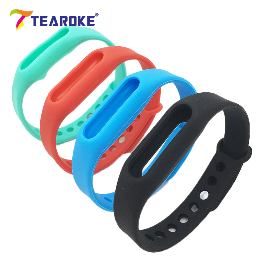 In Stock! TEAROKE 4 Colors Silicone Soft Watchband for Xiaomi 1S MiBand Mi Band Colorful Replacement Bracelet Wristband Strap new in stock mi a22 iu s