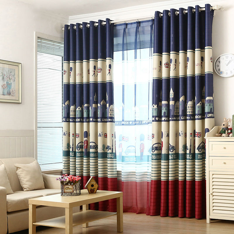 Cartoon Curtain Window Blackout Curtains For Children Kids