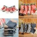 4 Pares de Bebê Meninos Meninas Crianças Meias Linda Meias de Algodão Quentes 1-3Y Presente de Natal Para Meninas