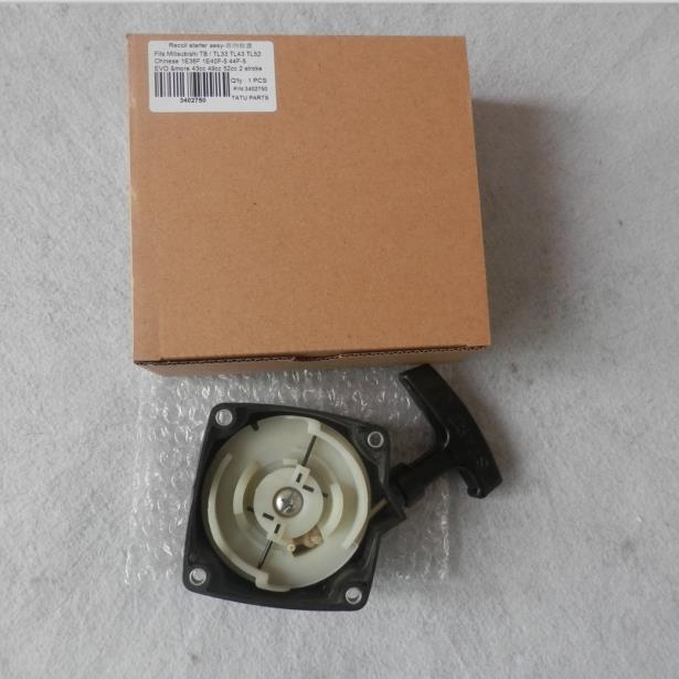 RECOIL STARTER FOR MITSUBISHI TL33 TL43 TL50 TL52 TB43  EVO 43CC 49CC 52CC SCOOTER GO PED PULL START TRIMMER CUTTER  ATV AUGER my first eng adventure starter tb