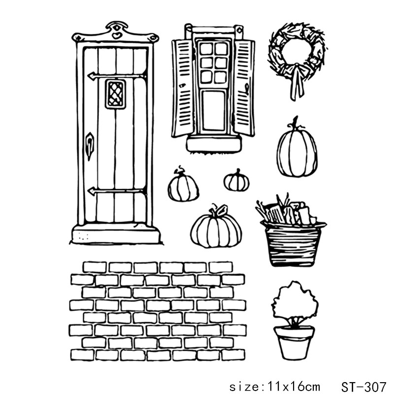 ZhuoAng Pumpkin house/House Transparent and Clear Stamp DIY Scrapbooking Album Card Making Decoration