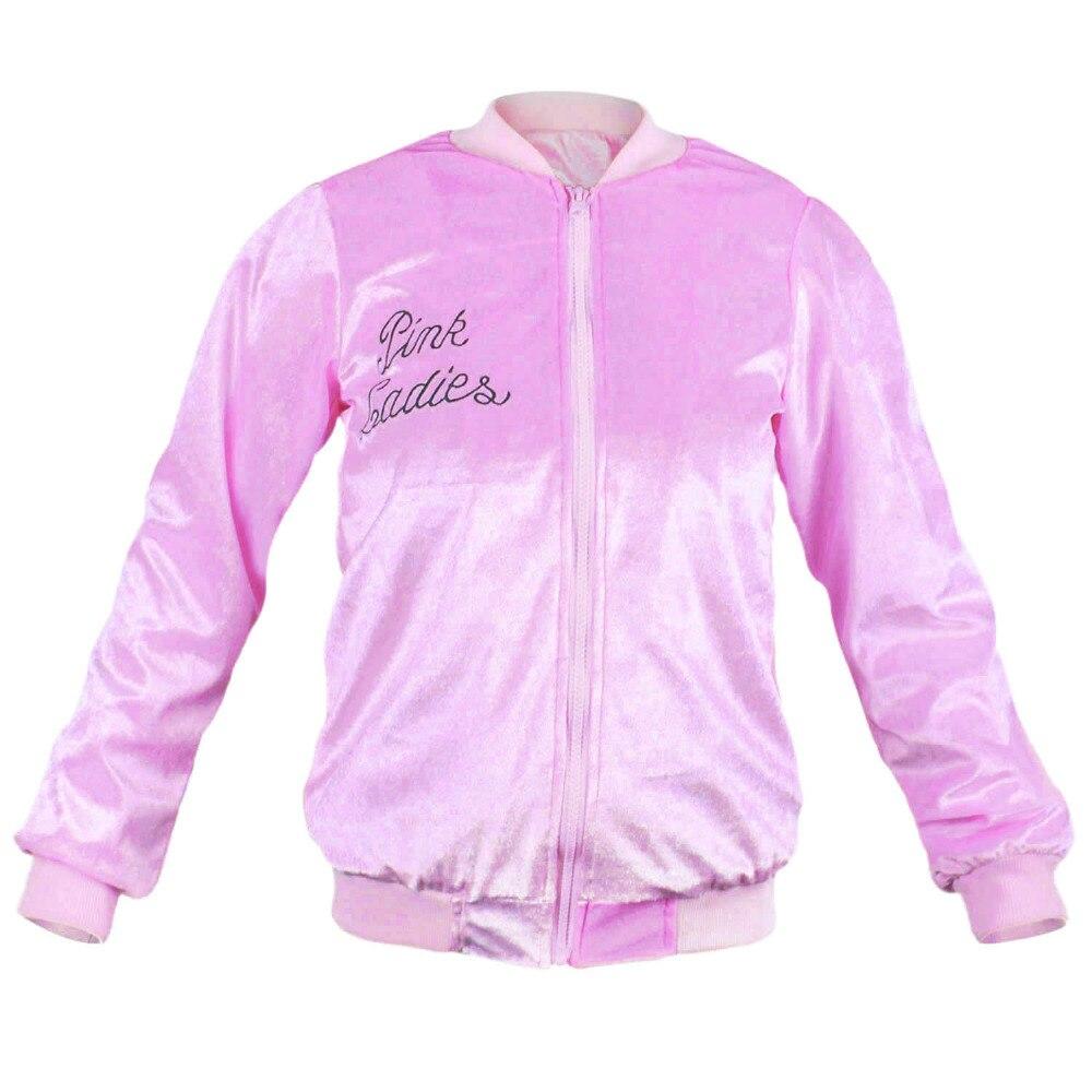 Grease Pink Ladies chaqueta cremallera frontal chaqueta de ...