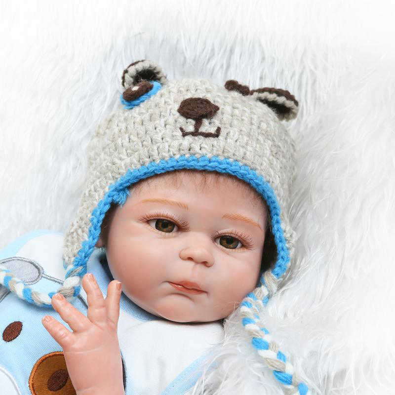 Toys & Hobbies Full Silicone Newborn Doll 50cm Realistic Reborn Baby Doll Kids Playmates Gift Bebe Reborn Menino Poupee Enfant Special Buy