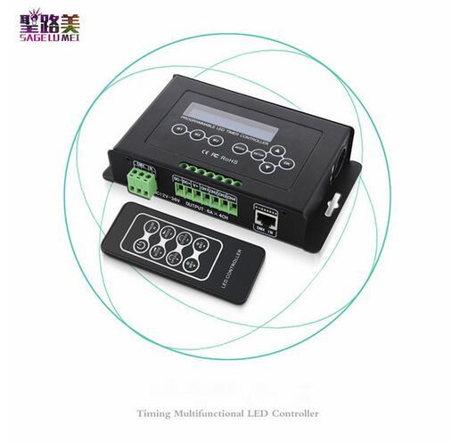 BC-300 DC12V-36V Time programmable LED Controller RGB RGBW Strip Light Controller programmable Timer Light DMX 512 ControllerBC-300 DC12V-36V Time programmable LED Controller RGB RGBW Strip Light Controller programmable Timer Light DMX 512 Controller