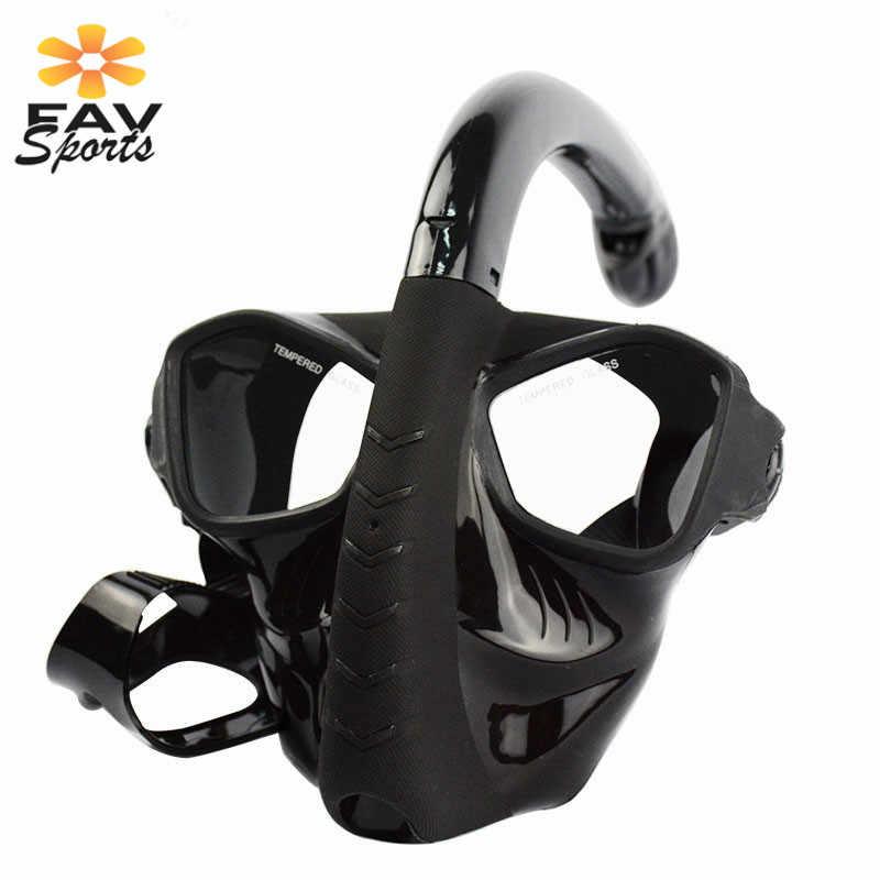 Onderwater Ademhaling Masker Full Face Scuba Snorkelen Set Anti Fog Spuiten Duikbril Zwemmen Scuba voor Gopro Camera