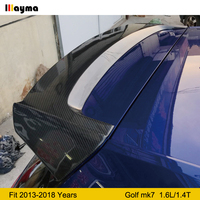 A Style Carbon fiber Roof wing spoiler For Golf VII standard edition 1.6L 1.4T Mk7 trunk rear wing spoiler 2013 2018 year