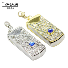 USB Flash Drive Crystal Rotate Necklaceusb Flash Drive Pen Drive Memory Stick U Disk Festival Thumb/Car/Pen Gift 4GB-64GB S350