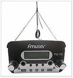 FM Stereo Antenne | 7 Watt CZH-7C CZE-7C FU-7C PLL Ukw-stereo-rundfunksender 76 MHz-108 MHz + GP100 Antenne + Netzteil Kit Abdeckung 1 KM-2,5 KM