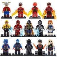Wholesale Building Block 20pcs Lot DC Super Heroes The Atom Wonder Captain Avengers Black Flash Bricks