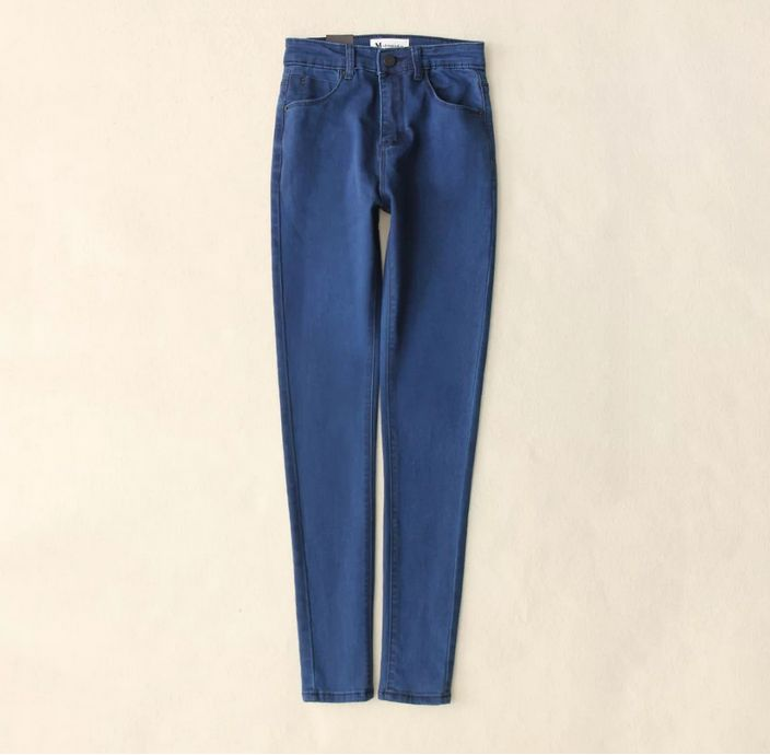 Slim Jeans For Women Skinny High Waist Jeans Woman Blue Denim Pencil Pants Stretch Waist Women Jeans Black Pants