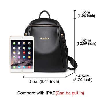 LAORENTOU Brand Women Backpack Large Capacity Lady Solid Bag School Bag for Teenage Large Capacity Multifunctional Bag