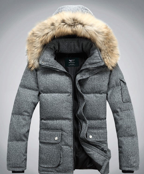 23fd66c873 US $165.0 |New Mens Boys Winter Warm Down Fur Hooded Puffer Bomber  Outerwear Jacket Coat-in Vests & Waistcoats from Men's Clothing on  Aliexpress.com | ...