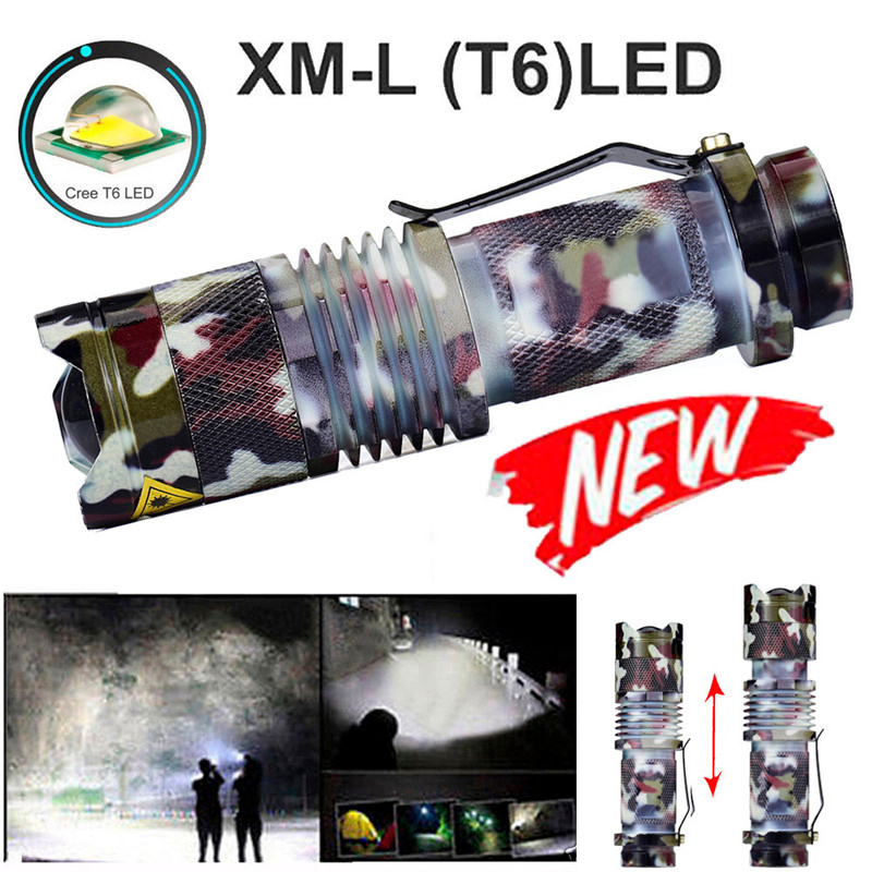 B2 Zoomable T6 LED 5 Modes Flashlight Torch Zoom Lamp Outdoor Light Super Mini Size Camping & Hiking Wholesales&Retails