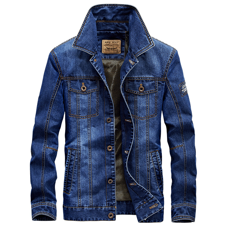 2017 denim jacket Men military jeans Hoody cotton male jackets and coats Brand clothing Spring Autumn Plus size 4XL