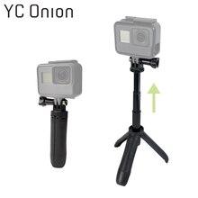 Мини селфи палка штатив выдвижной монопод крепление для GoPro Hero 7 6 5 4 3 + SJ4000 Xiaomi YI 4 K sony аксессуары для экшн-камеры